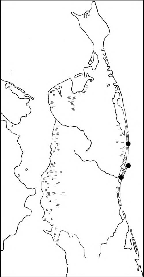 Места встреч красноголовых нырков наСеверном Сахалине
